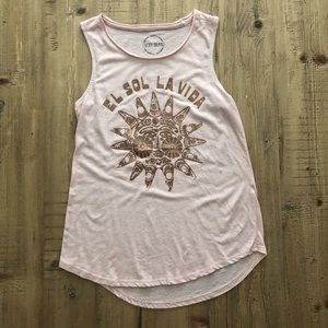LUCKY BRAND blush graphic tank